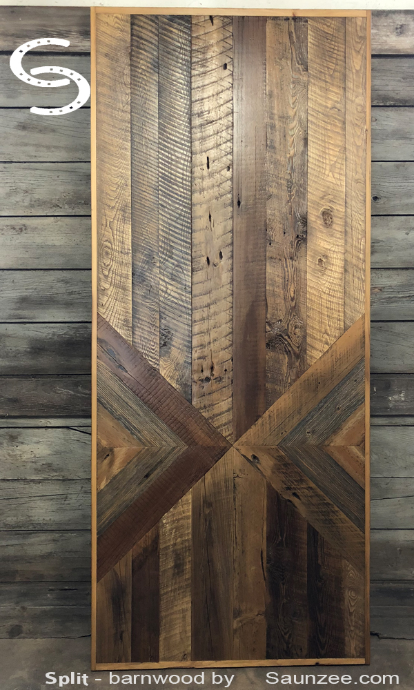 Saunzee Signs Split Barnwood Furniture