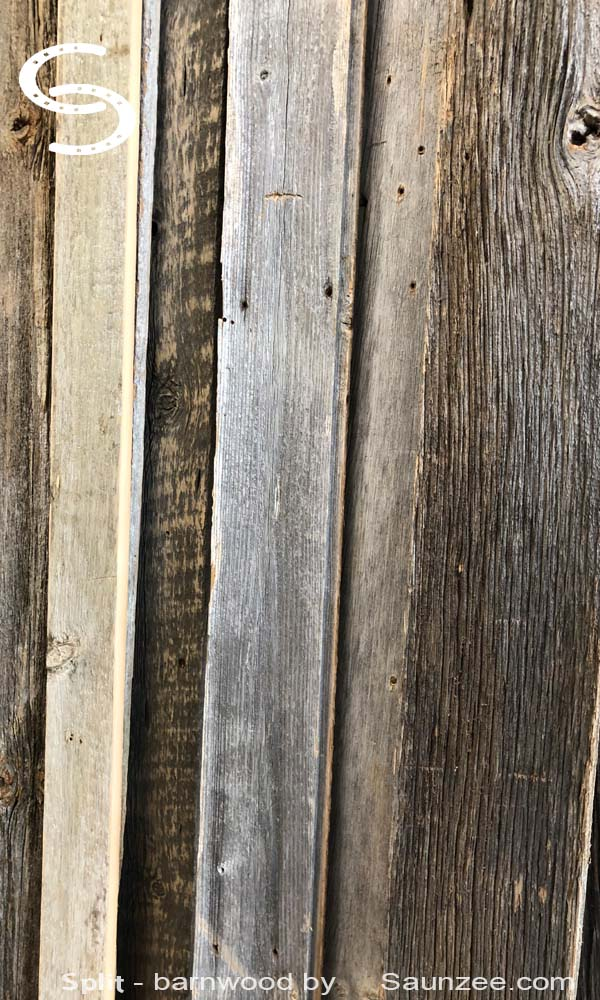 Split Barnwood by Saunzee Inventory Aged Barn Wood Old Rustic Gray wood Reclaimed Weathered Lumber Old Barnwood