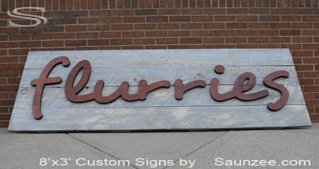Saunzee Custom 3D Barn-Wood Sign OutDoors Store Sign Mall Store Front Sign Rustic Timber Sign Old Looking Sign BarnWood Signage Business Signs Company Sign TradeShow Signs Exhibits Display Signs Flurries Signage