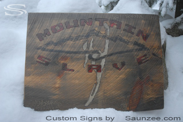 Saunzee Custom Barn Wood Sign Mountain Slave Sign Timber Sign Wood Snowboard Signs Out Door Store Front Sign Surf Shop Sign Slave Sign