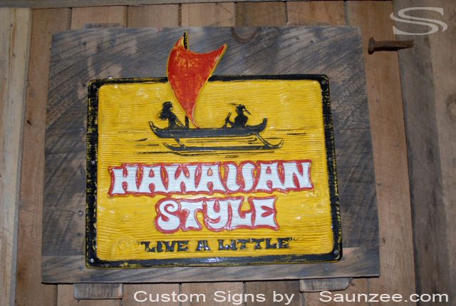 Saunzee Custom Barn Wood Sign Timber Sign Wood Crates Signs Wood Pallet Signs Wooden 3D Carved Signs Surfshop Signs Retailer Signs Old Rustic Weathered Signs Barn Boards Sign Hawaiian Style Live a Little Signage
