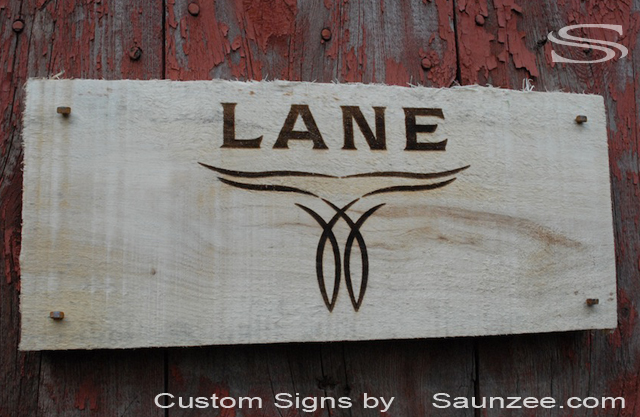 Saunzee Custom Laser Etch Timber Wood Signs Horse Shoe Nails in Wood Sign Burnt Branded Sign Western Sign Brand Burned in to Ash Wood Sign Visual Point of Purchase Sign Lane Boots Signage