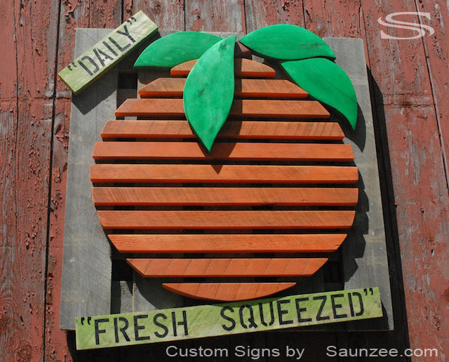Saunzee Custom Orange Orchard Sign Crate Wood Sign Farmers Market Sign Store Front Sign Cafe Sign Fresh Squeezed Oranges Sign oj