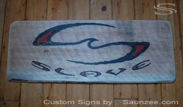 Saunzee Custom Rough Timber Wood Sign Weathered Signs Slave Skateboard Sign Marketing Sign Skate Shop Sign Slave Trademark Logo Sign