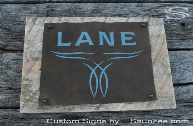 Saunzee Custom Timber Wood Signs Leather Sign Mounted on Barn Wood Western Shop Sign Visual Merchandising Signage Point of Purchase Sign Lane Boots Signage