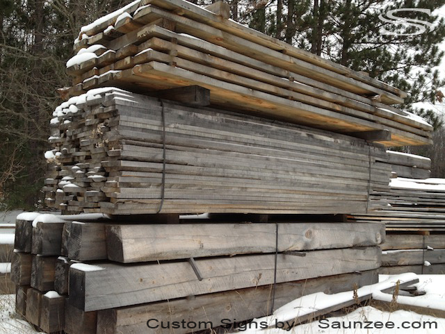 Saunzee Pine Barn Wood Aged Barn Wood Timber Piles