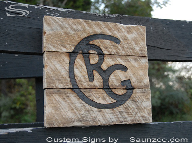 Saunzee Custom Branded Wood Signs Burn Burning Brand Mark Permanently With Hot Iron Mark of Ownership Made by Branding Wooden Signs