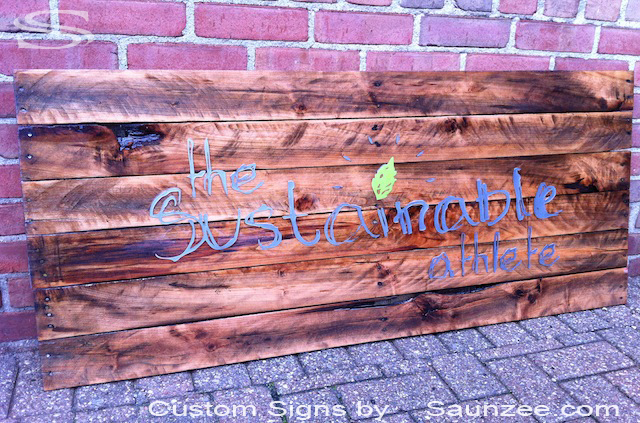 Saunzee Custom Pallet Wood Signs For Sale Crate Wood Signs For Sale Pallet Signs Made From Pallet Wood Commercial Grade Pallet Signs Pallet Business Signs The Sustainable Athlete