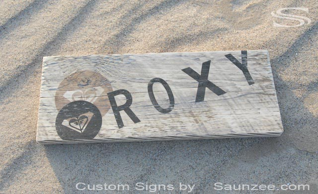 Saunzee Custom Surfer Girl Signs Rustic Wood Surf Shop Signs Decor POP Signs Surf Girl Signage Roxy Signs Girls Surf Signs Decor Beach Sign Roxy Sign