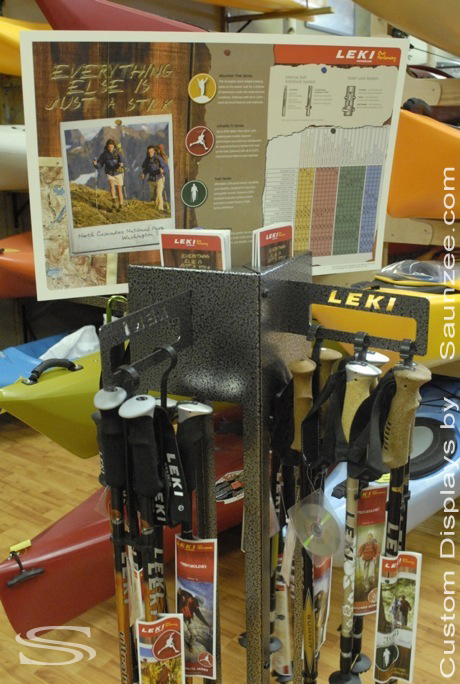 Saunzee_Custom_Displays_Trade_Show_Display_Self_Standing_Steel_Trekking_Poles_Floor_Display_Manufacture_of_Displays_Movable_Display_Pop_Display_Outfitter_Store_Displays_Leki_Pole_Holder_Display.jpg