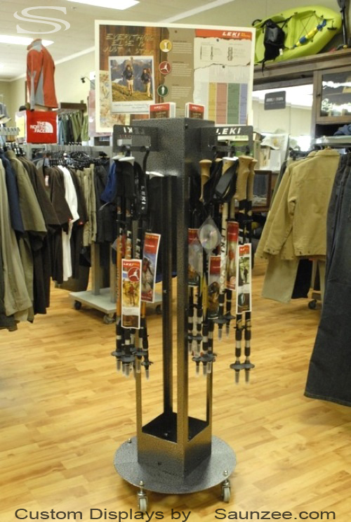 Saunzee_Custom_Displays_Trade_Show_Display_Self_Standing_Steel_Trekking_Poles_Floor_Display_Manufacture_of_Island_Displays_Movable_Display_Pop_Display_Outfitter_Store_Displays_Leki_Pole_Holder_Display.jpg