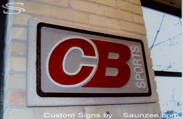 SAUNZEE Custom Signs Foam Molded Sign Foam Signs POP Sign Factory 3D Sign Point of Purchase Advertising Signs POP Displays In Store Wall Rock Look Signs CB Sports Signage