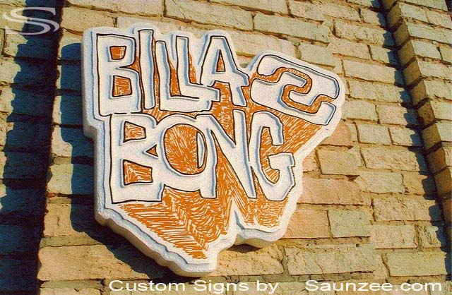 Saunzee Custom Foam Molded Signs Surf Sign Foam Sign Cool Sign 3D Sign Makers POP Sign Visual Marketing Signs Surf Shop Sign Screen Printed Signs lightweight Sign Foam HDU Signs Billabong Sign Signage