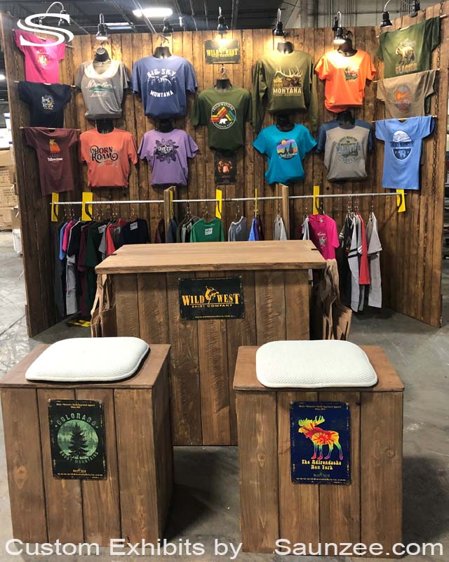 10X10 Trade Show Booths Exhibits Western Wood Trade Show Booth Portable Exhibits Trade Show Booth County Fair Exhibits Wild West T-Shirts