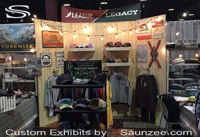 Saunzee Exhibits Custom Exhibits Wooden Trade Show Booths Apparel Expo Booth