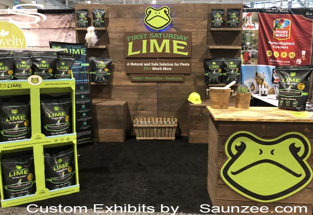 Saunzee Exhibits Custom Exhibits Wooden Trade Show Booths Natural Product Expo Booth LIME