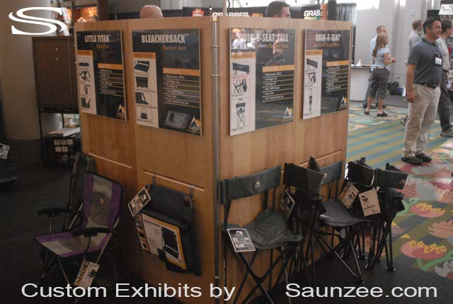 Saunzee Collapsible Exhibits Portable Exhibits Designed for Easy Set-Up Without Outside Assistance Set up Fast Set up Exhibits
