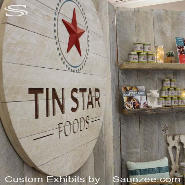 Trade Show Signs Exhibits 10x10 Exhibits Signs Portable Wood Trade Show Booth Signs Tin Star Foods