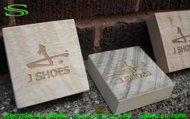 Saunzee-Go-Green-Custom-Recycle-Signs-Recyclable-Sign-Laser-Etch-Laser-Engrave-Signs-Laser-Cuting-Etching-Engraveing-Wood-Sign-Green-Sign-Promotional-Signs-Advertising-Sign-J Shoes