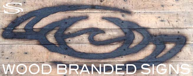 LINK SAUNZEE Wood Burned Branded Signs