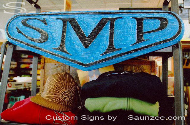 SAUNZEE Custom Molded Foam Wood Look sign Sandblasted Signs Sandblast Sign 3 dimension Signs 3D Wooden Sign Retailer Store Sign SMP