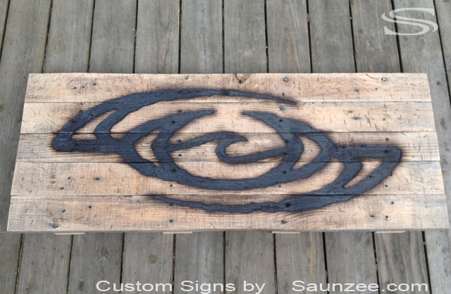 Ocean-Slave Logo Branding iron Wood Burn Sign Vintage OS Wood Burn Signs Wood Burned Signs Wood Burning Logo Branding Signs Rustic Burnt Out Logo Sign Branded Wooden Sign