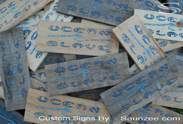 Saunzee Custom Pallet Wood Signs Recycled Pallets for Signs Recycle Pallets Wood Signs Decorating ideas Old Pallet Signs Crate Wood Signs Cargo Boxes Signs Rustic Pallet Surf Signs Recycled Wooden Pallet Designs