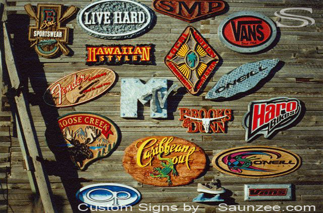 5 Saunzee Portfolios Sign Collection Injection Molded Point of Sale Signs Made From Many Different Materials Custom Signs Since 1985