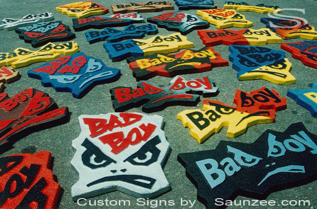 Saunzee Custom Sign Makers Foam Signs 3D Signs Bad Boy Production Signs