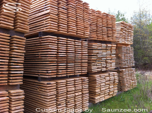 Saunzee Barn Wood Lumber Pine Wood Timber for Signs Making for Production 1x8x12