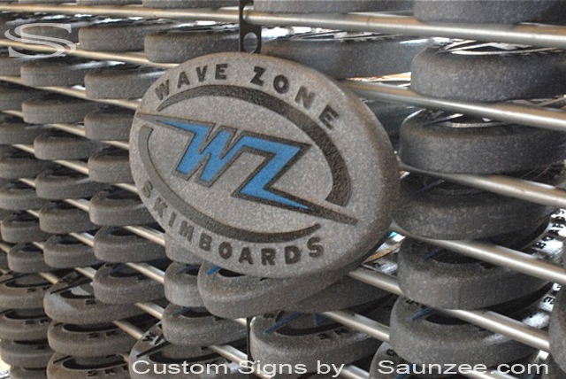 Saunzee Custom Sign Makers Molded Foam Signs Skimboard Signs Wave Zone Production Signs