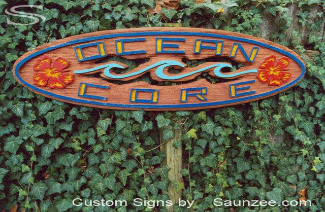 SAUNZEE Custom Red Wood Sandblasted Signs Sandblast-Sign-3 Dimension Sculptural Signs Wooden SandBlast Sign Wooden SandBlasted Sign Carved Away Wooden Sign Surf Shop Outdoor Sign Ocean Core Surf Sign