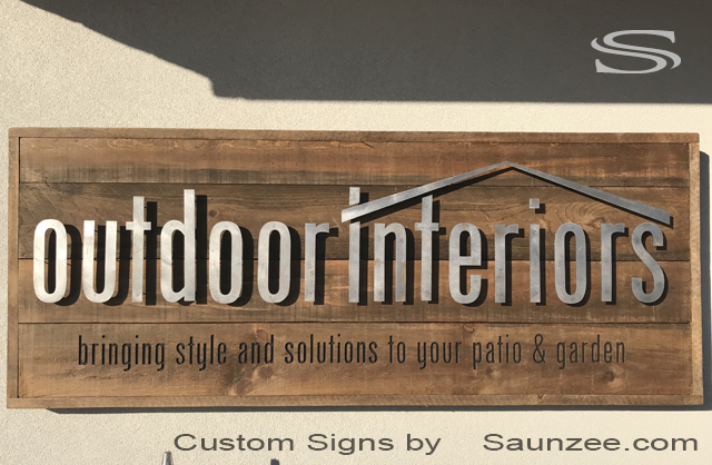Saunzee Custom Front Rustic Signs Barn Wood Timber Business