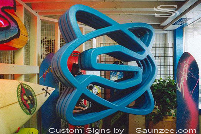 Saunzee Custom Trade Show Sign Big Signs 3D Signs TradeShow Signage Lightweight Portable Trade Show Sign Cool Exhibit Signs Hanging Sign When you Attend Trade Shows Switch Snowboards Booth Sign 8