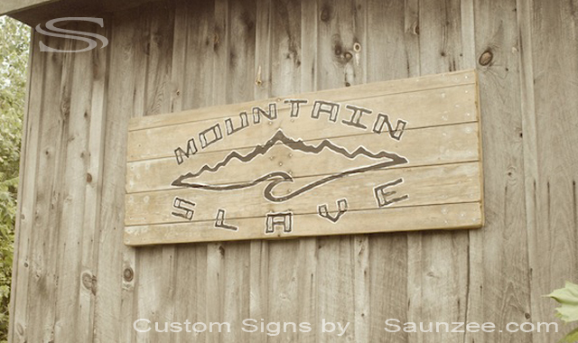 Saunzee Custom Vintage Signage Old Wood Sign Mountain Slave Board Shop Sign Outdoors Mountain Slave Snowboard Sign MS