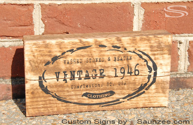 Saunzee Custom Vintage Signs Faded Away Old Looking Rustic Sign Antique Boutique Shop Retail