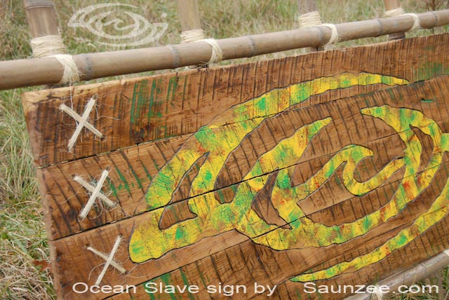 Saunzee Custom Tropical Island Beach Signs Rustic Old Bamboo Vintage Signs Outdoor Bamboo Wood Signs Old Wood Surf Signs Surf Shack Surf Shop Sign Ocean Slave Signs Bamboo Signs Restored Vintage Signs