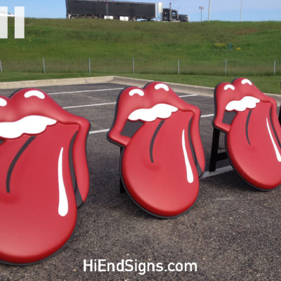 HI-END-Signs-High-End-Signs-Special-Events-Rolling-Stones-Band-Sign-Zip-Code-Tour-2015-Visual-Marketing-FreeStanding-3D-Lips-Foam-Sign