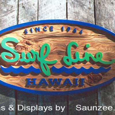 Carved-Signs-Cedar-Wood-Sandblast-Signs-Retail-Store-Sign-Surf-Line-Hawaii-Saunzee-Signs