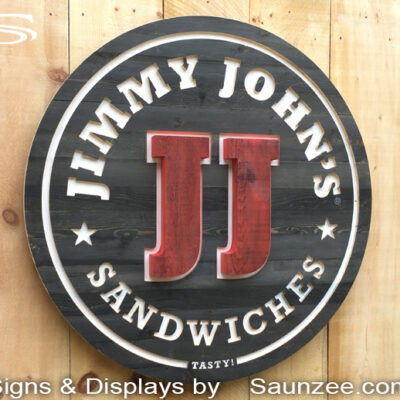Carved Signs Restaurant Logo Signs JIMMY JOHNS Saunzee Signs