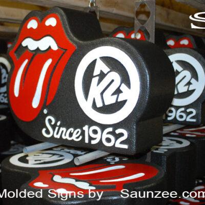 Foam Signs 3D Foam Sign Signfoam 3D Signs K2 Rolling Stones Signs Saunzee Signs