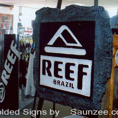 Foam-Signs-3D-Signs-Coral-Reef-Look-Sign-Reef-Brazil-Sandals-Saunzee-Signs