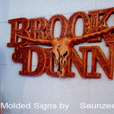 Foam Signs 3d Molded Sign Wood Carved Sign Brooks Dunn Country Music Signs Saunzee Signs