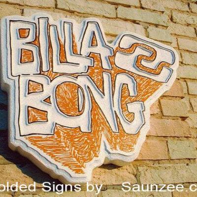 Foam Signs Molded Sign 3D Signs Billabong Surf Shop Sign Saunzee Signs