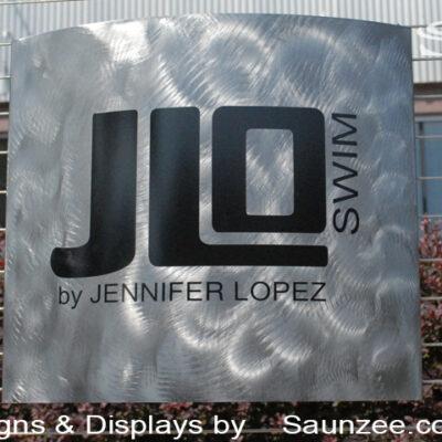 Steel Signs Custom Steel Logo Signs JLO Swim Signs Saunzee Signs