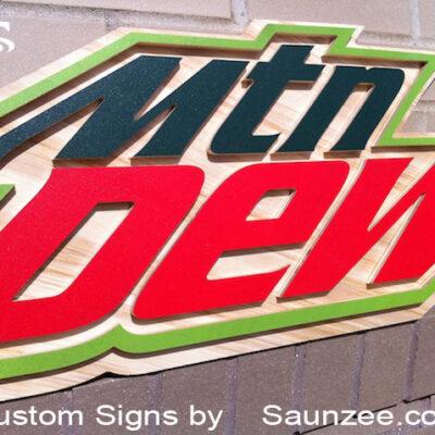 Custom Signs 3D Mountain Dew POP Signs Saunzee Signs