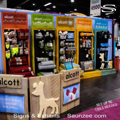 Trade Show Booths Portable Pop Up Booths Alcott Saunzee Exhibit