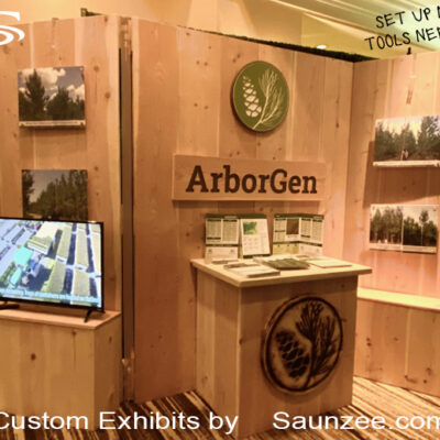 Trade Show Booths Wood 10 by 10 Collapsible Convention Hall Booths Saunzee Exhibits